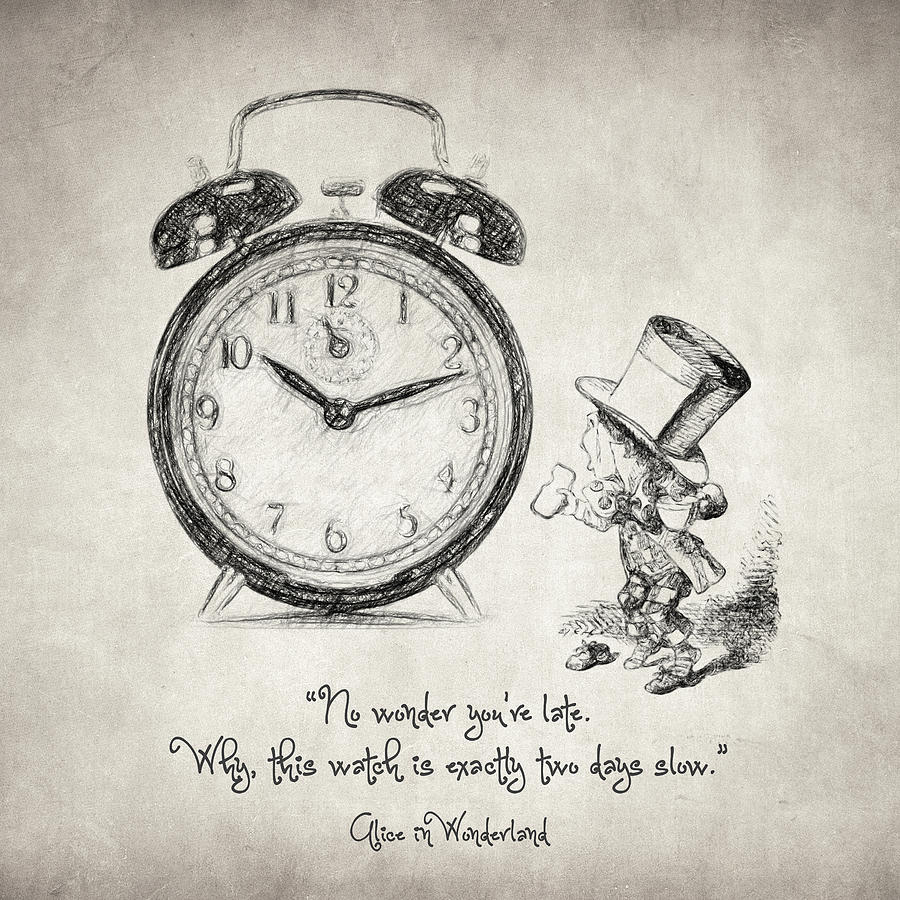 900x900 Alice In Wonderland Quote Drawing By Taylan Apukovska