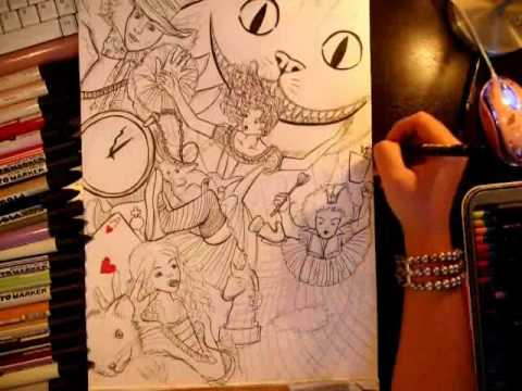 480x360 Alice In Wonderland Drawing Stefan Vilijin