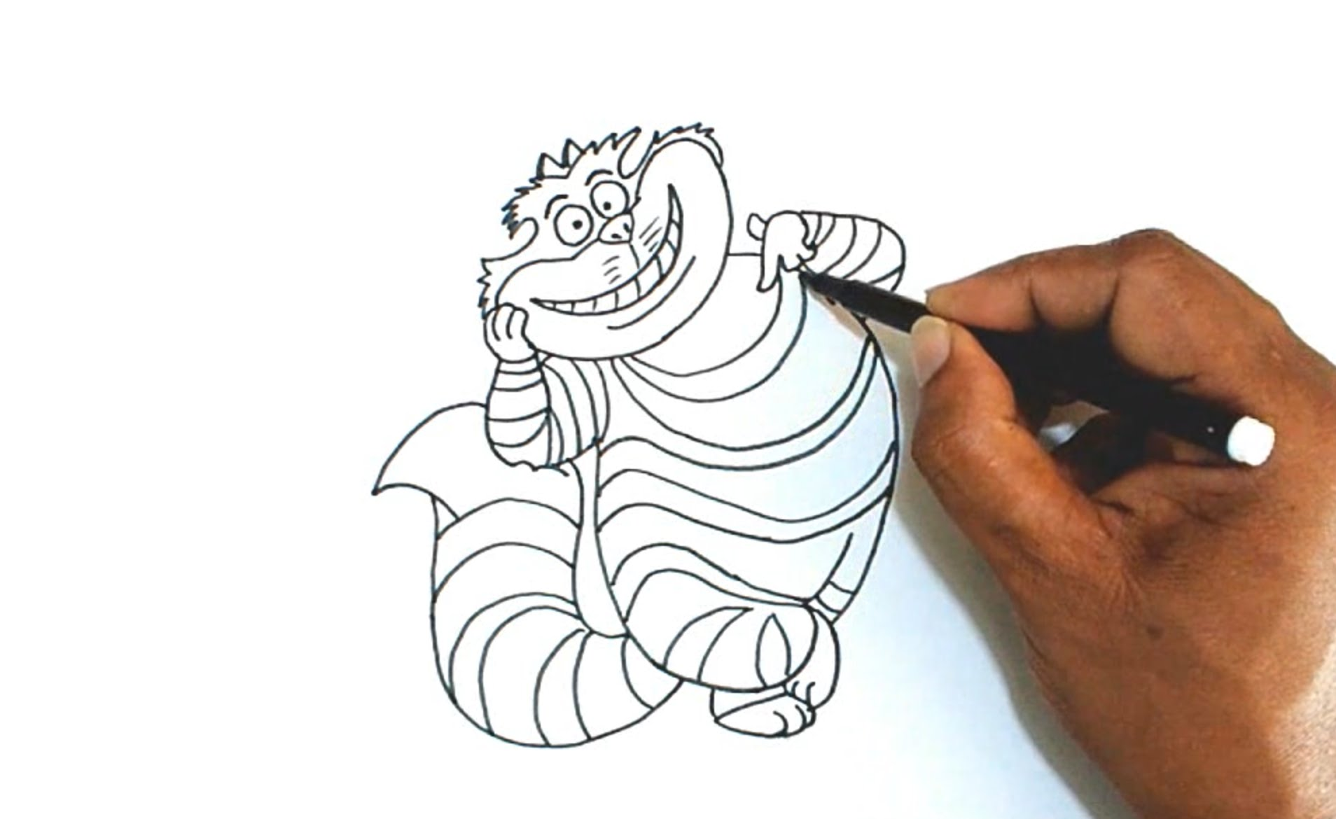 1908x1170 How To Draw The Cheshire Cat From Alice In Wonderland