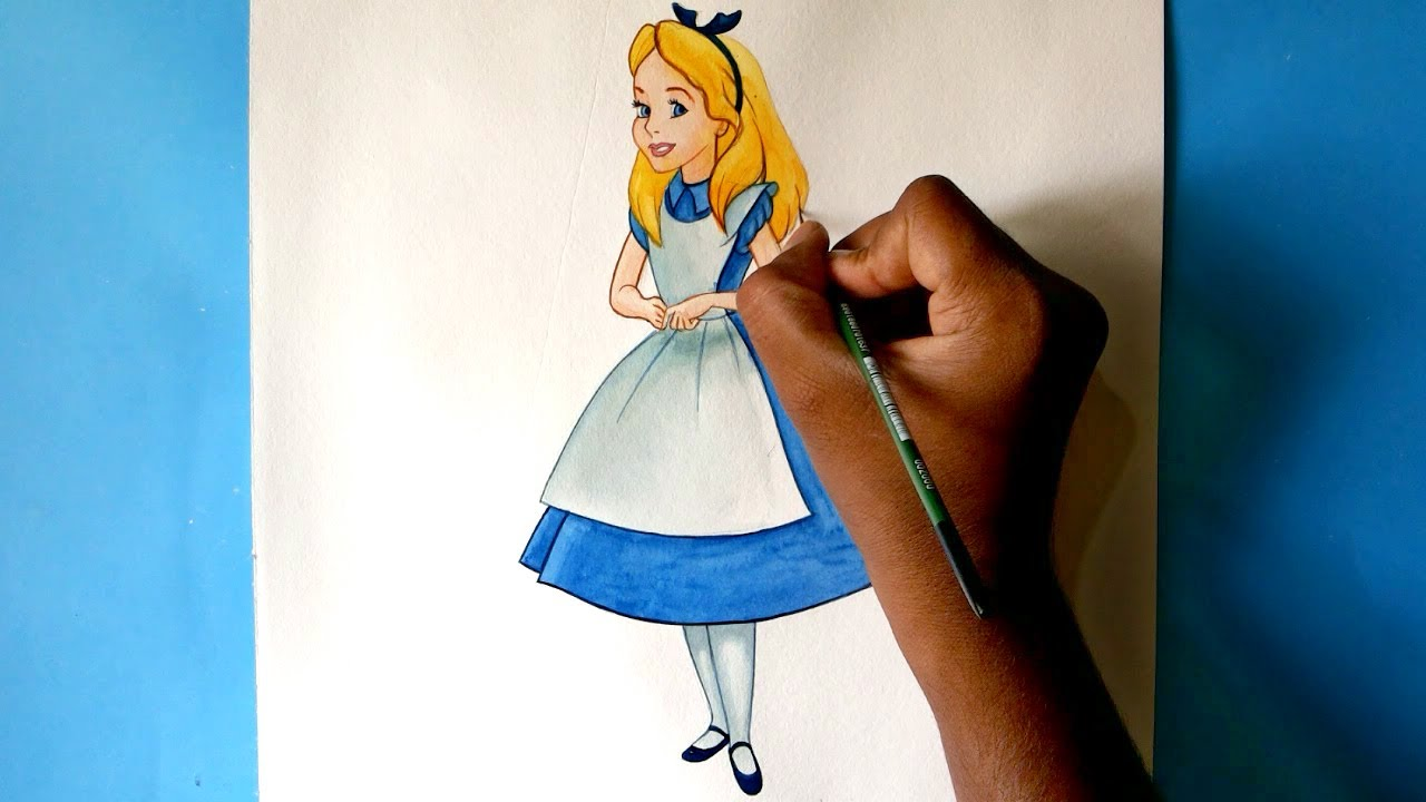 1280x720 How To Draw Alice From Alice In Wonderland