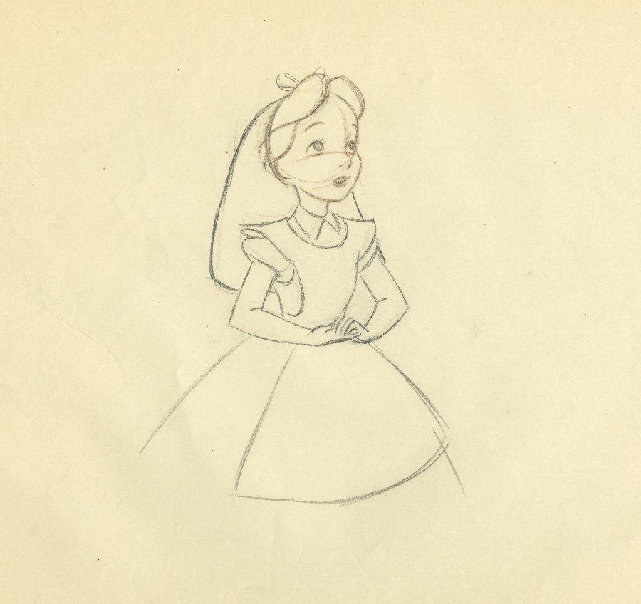 900x848 Alice In Wonderland Production Drawing