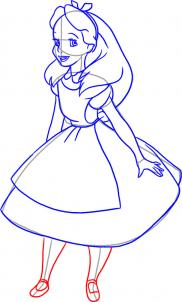 182x302 How To Draw How To Draw Alice From Alice In Wonderland