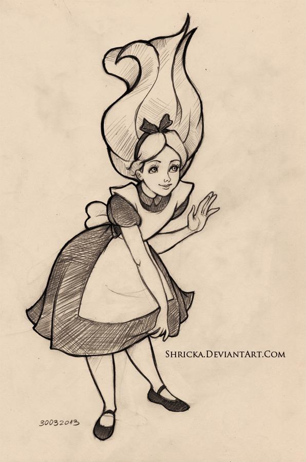 596x900 Sketch Style (Alice) 15 By Shricka On Disney