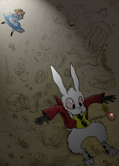 504x700 White Rabbit In Alice In Wonderland Fellowship Of The Minds