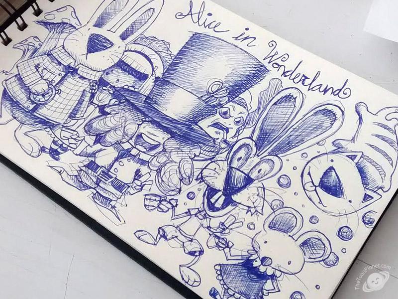 800x600 Alice In Wonderland Sketch
