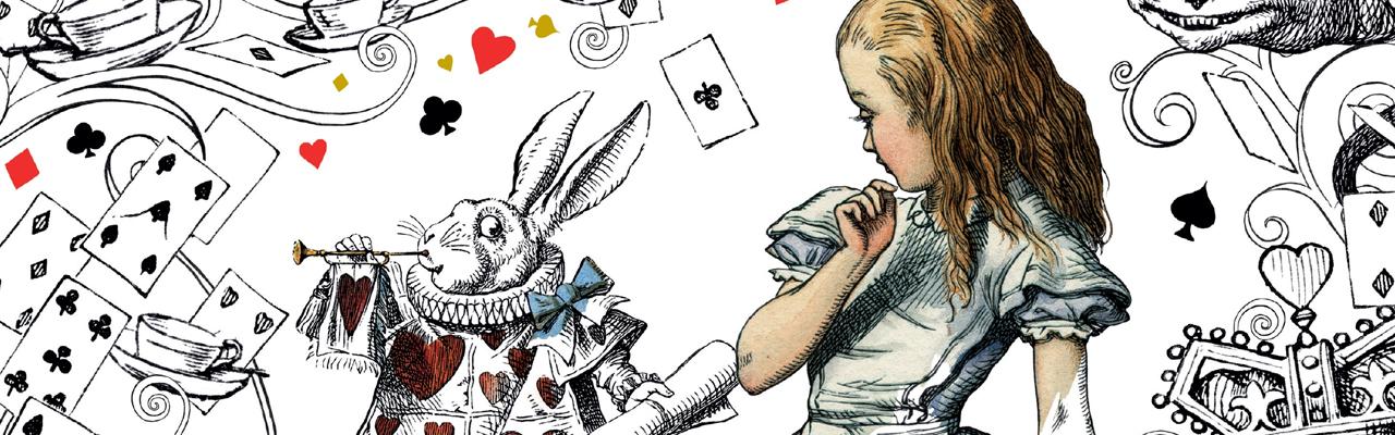 1280x400 Alice39s Adventures In Wonderland Free Colouring Downloads