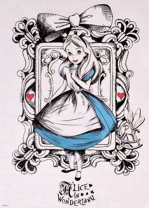 500x695 Alice In Wonderland Alice Alice, Drawings And Tattoo