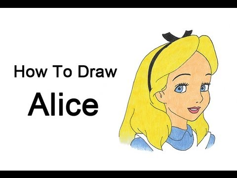 480x360 How To Draw Alice (Alice In Wonderland)