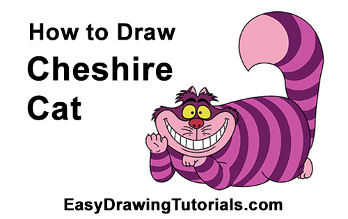 500x315 How To Draw The Cheshire Cat (Alice In Wonderland)