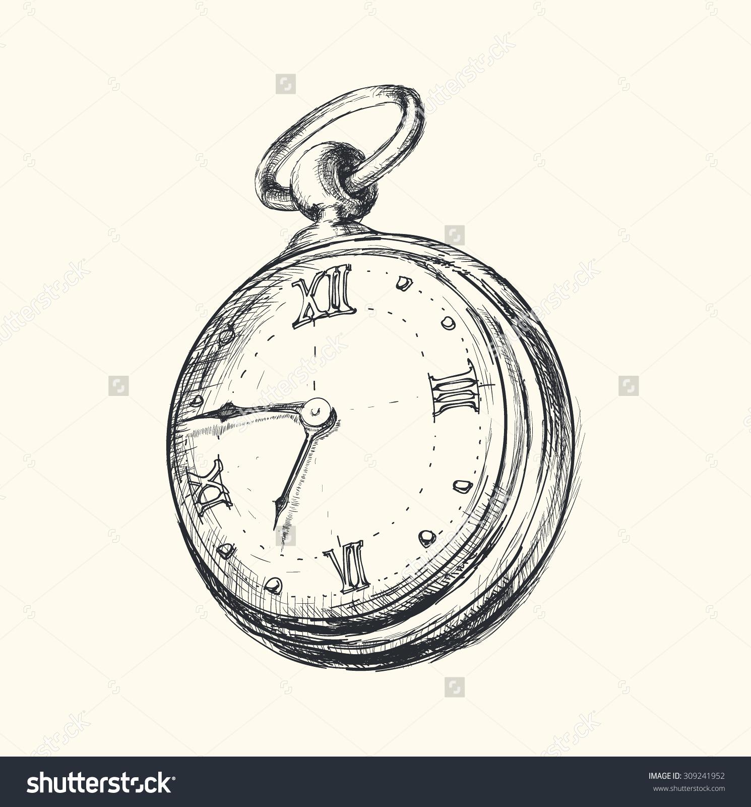 alice in wonderland clock drawing at getdrawingscom