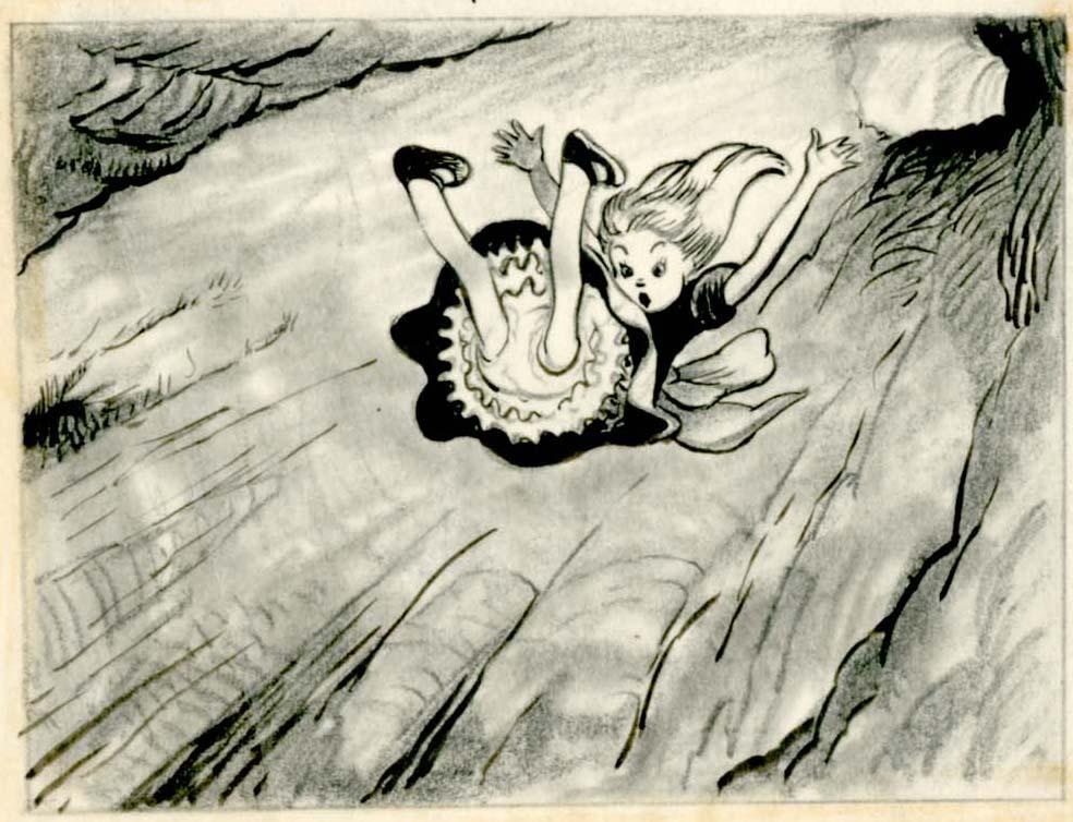 984x754 Vintage Disney Alice In Wonderland David Hall Story Drawing