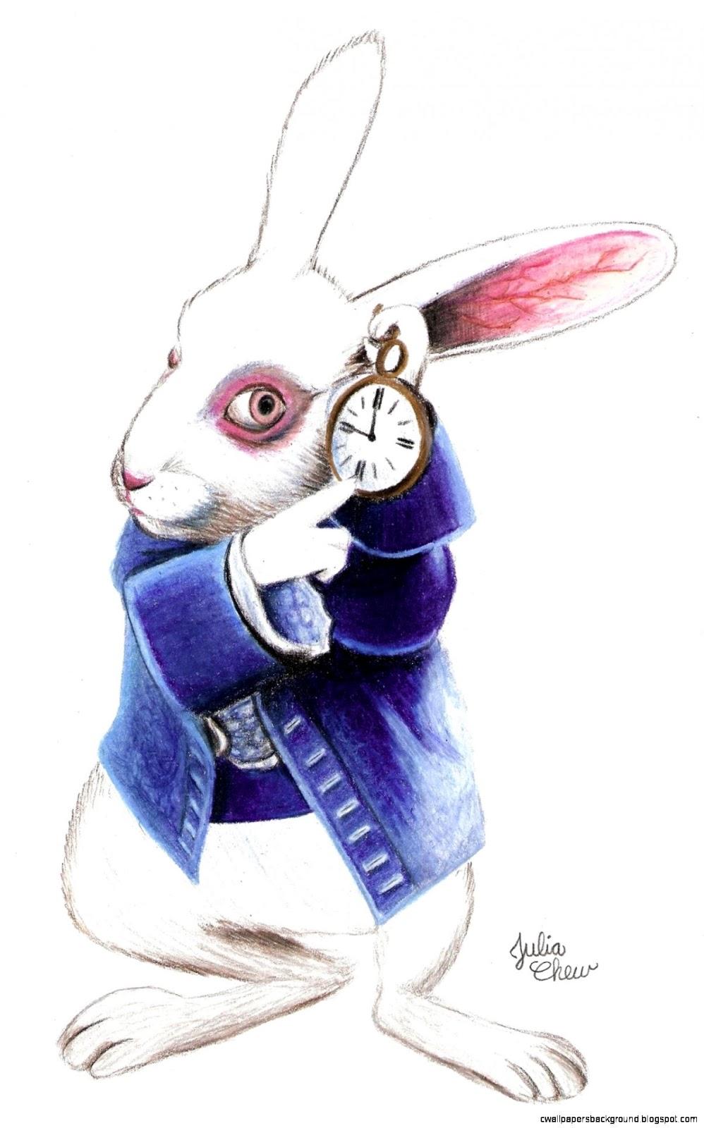 998x1600 White Rabbit Alice In Wonderland Wallpapers Background