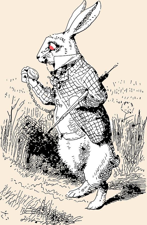 589x900 White Rabbit Alice In Wonderland Drawing By John Tenniel