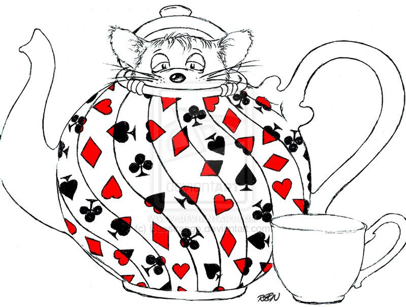 800x606 Alice In Wonderland Teapot Drawing Dormouse In A Teapot By Alice