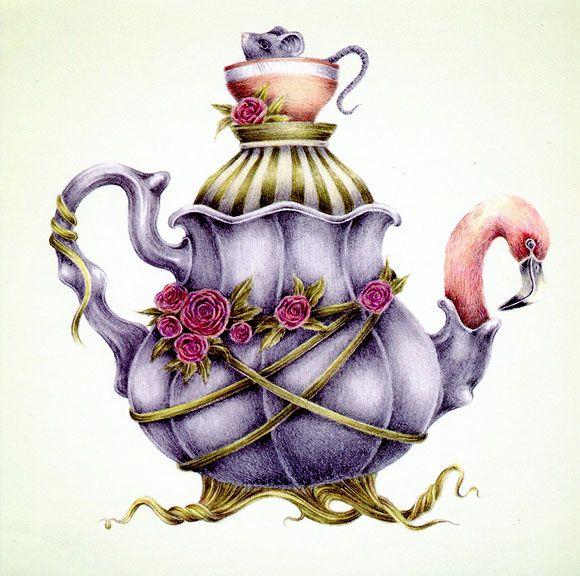 580x576 Alice In Wonderland Illustrations By Courtney Brims Arts