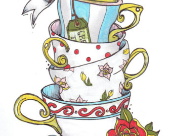 340x270 Teacup Drawing Etsy
