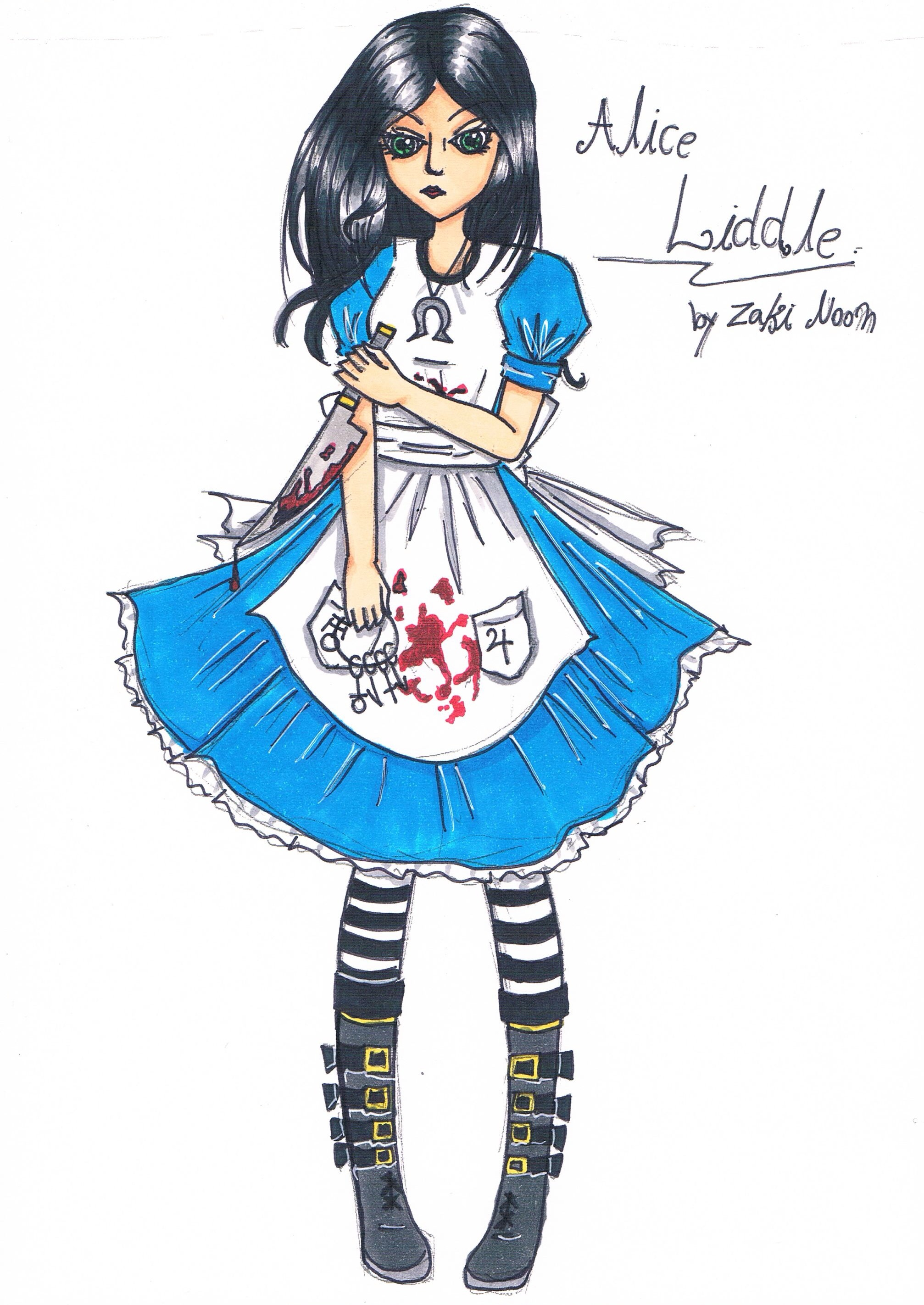 2014x2844 Alice Madness Return With Copic Sketch My Drawing Sketch
