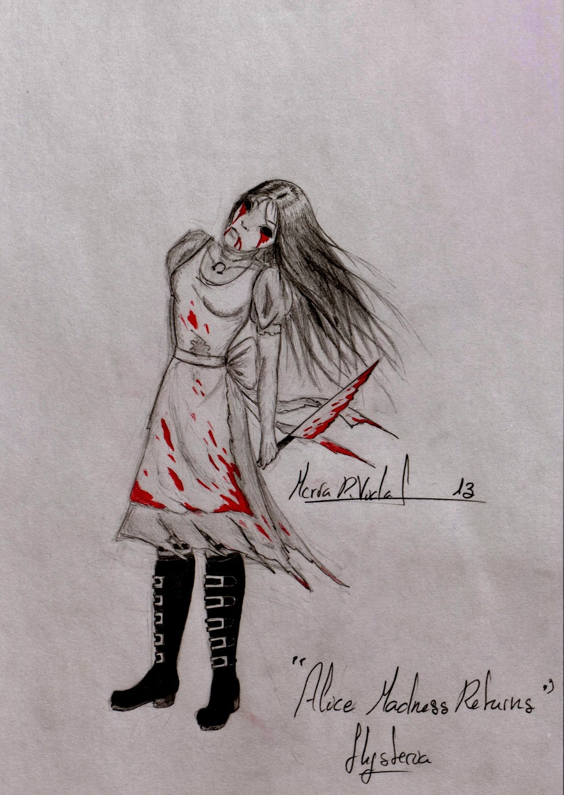 1136x1600 Drawings And Sketches While Studying Alice Madness Returns