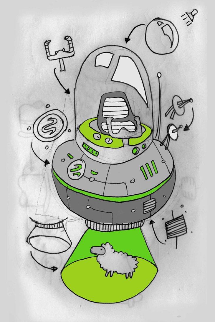 730x1095 Alien Spaceship (Ufo)