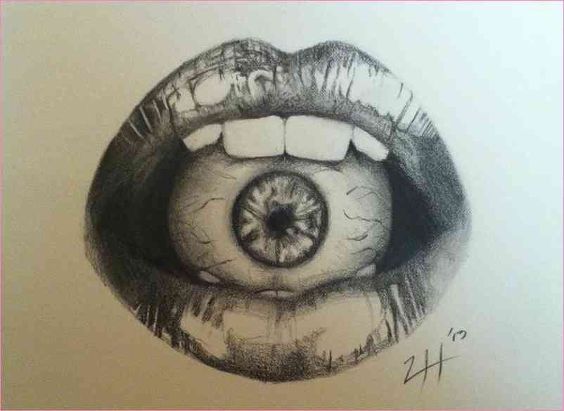 802x584 All Seeing Eye Drawing