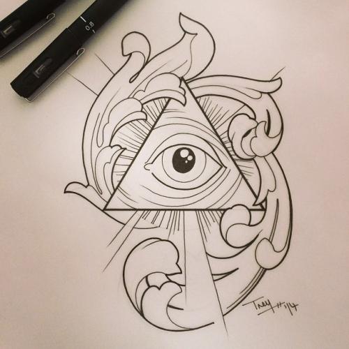 500x500 Tattoos All Seeing Eye Tattoo 300 Drawing Prompts