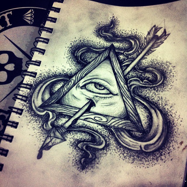 All Seeing Eye Tattoo Drawing At Getdrawings Free For Personal