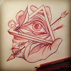 236x236 All Seeing Eye Tattoo On Hand