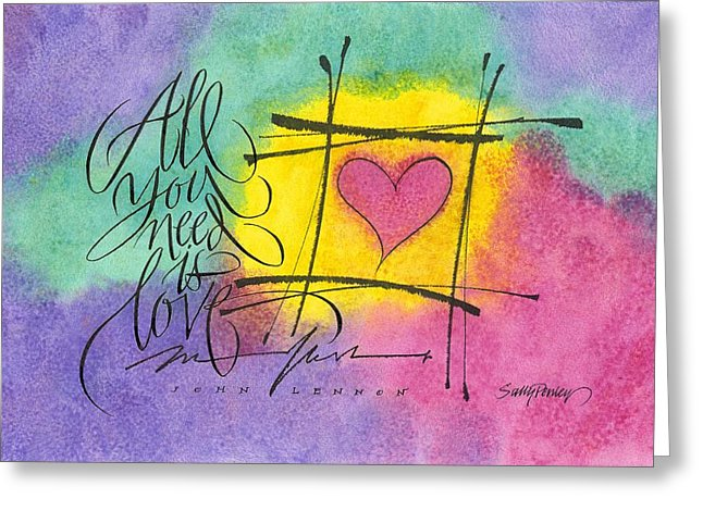 646x470 All You Need Is Love Painting By Sally Penley