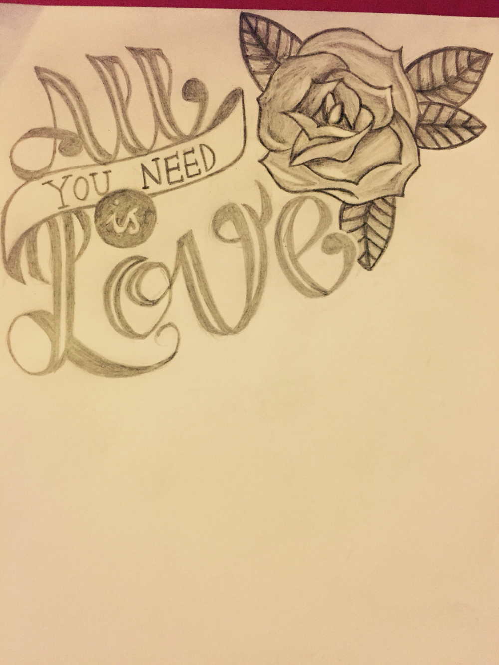1000x1334 All You Need Is Love Drawing By Charley Cumberledge My Art