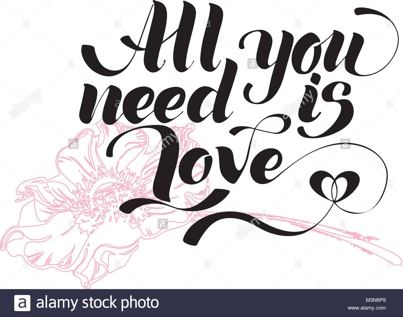 1300x1023 All You Need Is Love. Valentines Day Calligraphy Glitter Card