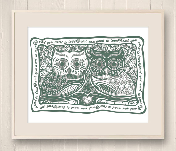 570x490 Helen Naylor Illustration Owl You Need Is Love Illustration.