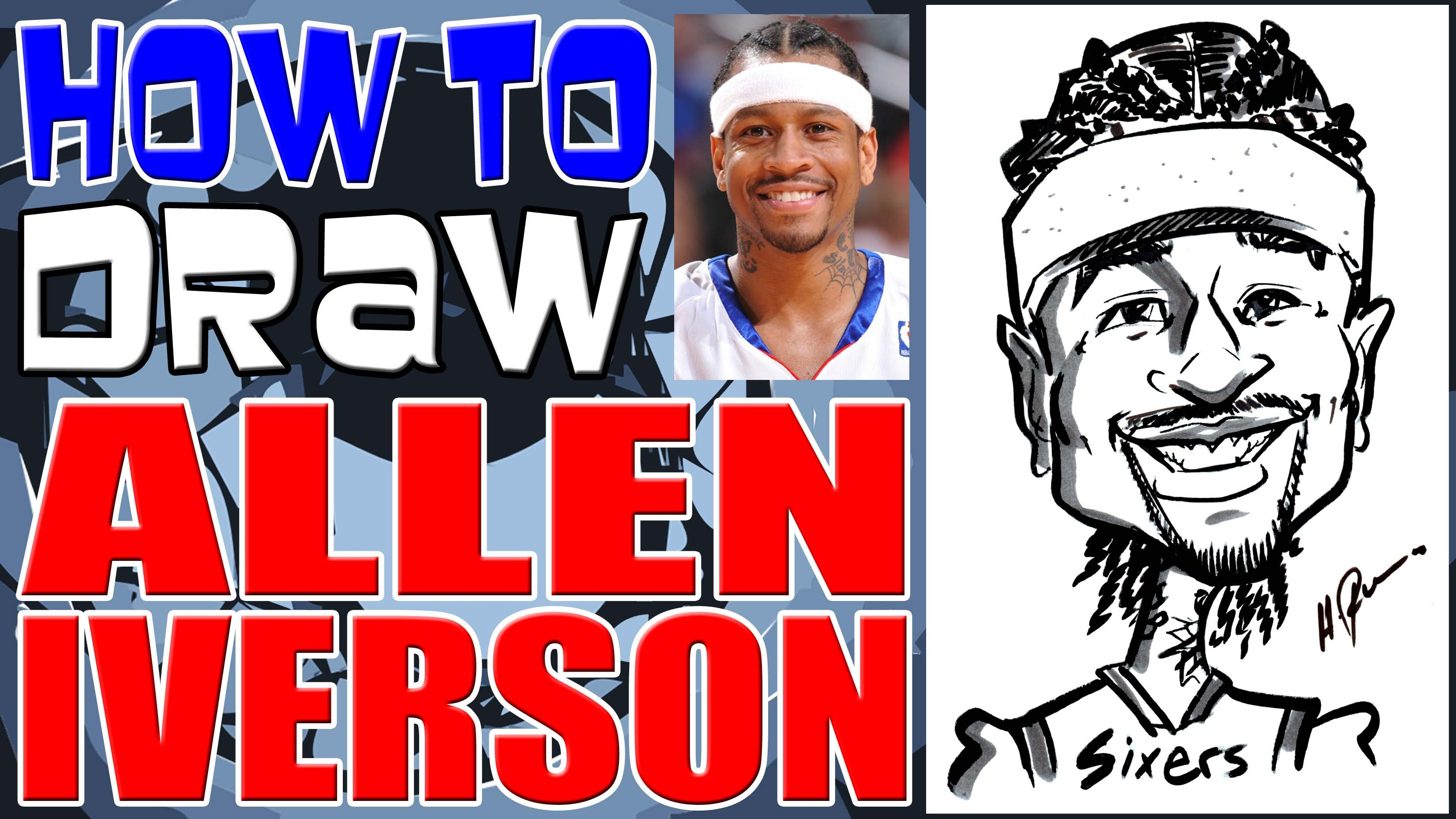 3300x1856 How To Draw A Quick Caricature Allen Iverson