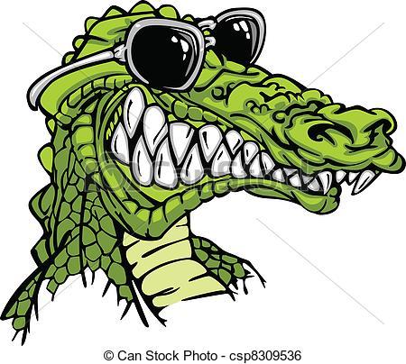 450x404 Gator Or Alligator Wearing Sunglass. Cartoon Image Of A Clip