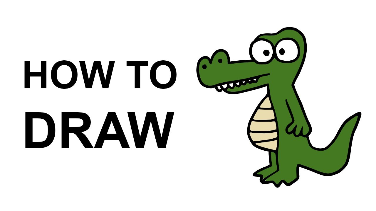 1280x720 How To Draw An Alligator