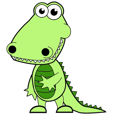 400x400 How To Draw Cartoon Alligators Amp Crocodiles In Easy Steps Drawing