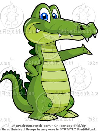 324x432 How To Draw A Cartoon Crocodile