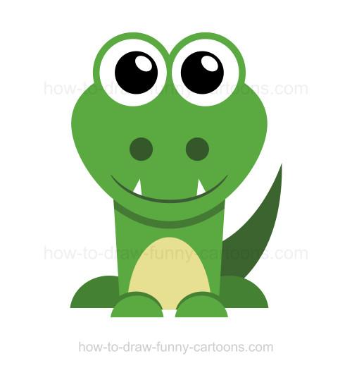500x522 To Draw A Crocodile
