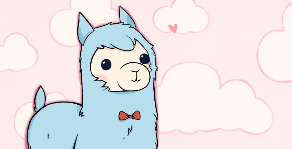 944x484 Arpakasso Alpaca Drawing By Panda Prune
