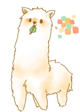 308x428 Alpaca Drawing