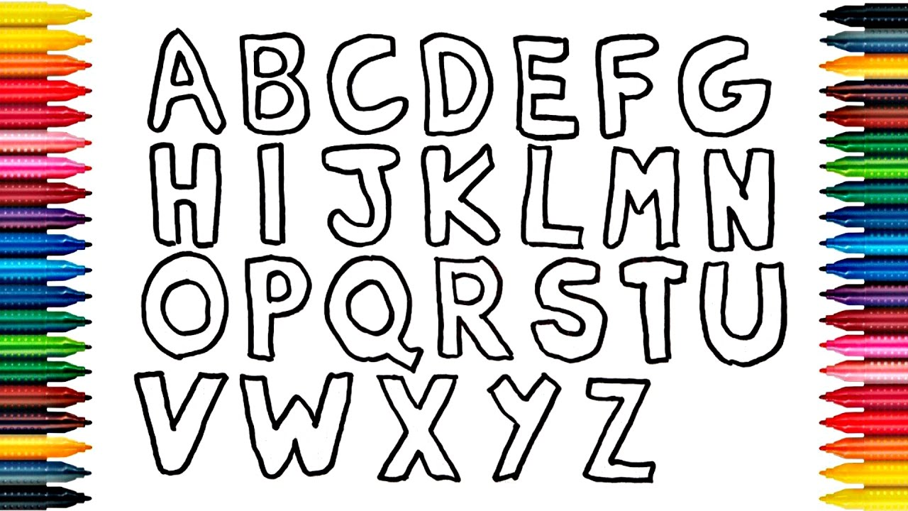 1280x720 Drawing Alphabets How To Draw Alphabet And Painting Alphabets