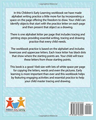 400x500 Alphabet Trace Amp Draw Workbook Handwriting Workbook For Kids