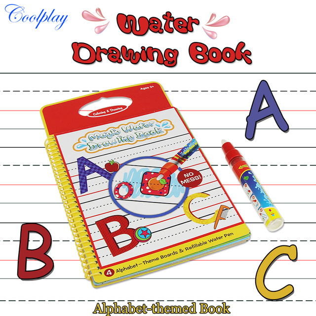 640x640 Alphabet Water Drawing Book Coloring Book Doodle With 1 Magic Pen
