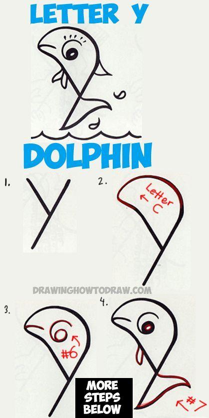 419x836 2016 06) En Delfin Para Pintar Cartoon