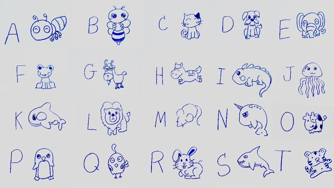 1280x720 Alphabet Drawing For Kids