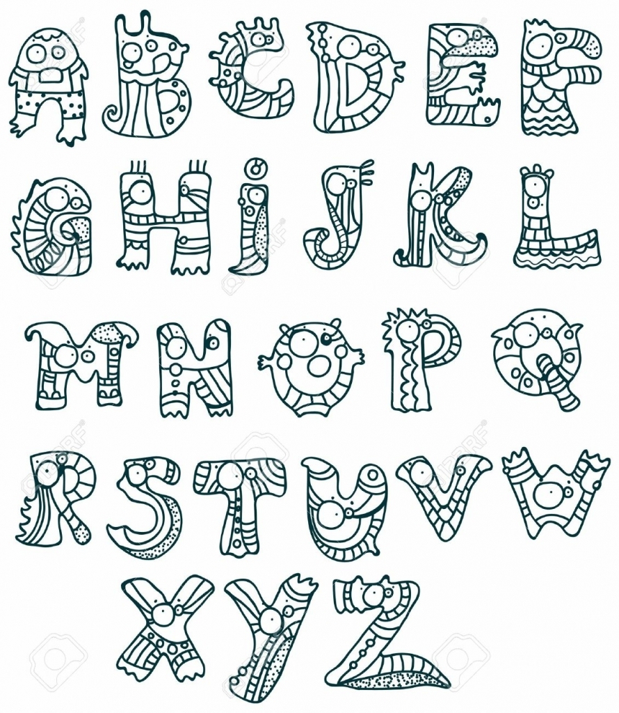 890x1024 Alphabets Drawing Pictures Cartoon Drawing With Alphabets Drawing
