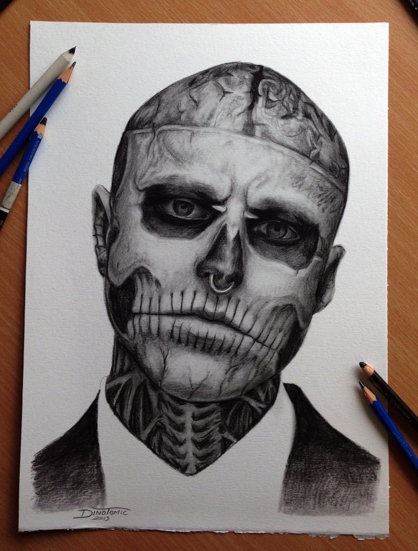 823x1083 Amazing Drawings By Tattoo Artist Dino Tomic ~ Picliste