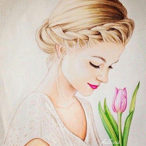 500x500 Drawing Of A Girl Amazing, Art, Beautiful, Draw, Drawing, Girl