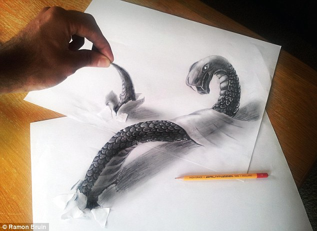634x461 You Won'T Believe Your Eyes! Artist Creates Amazing 3d Drawings