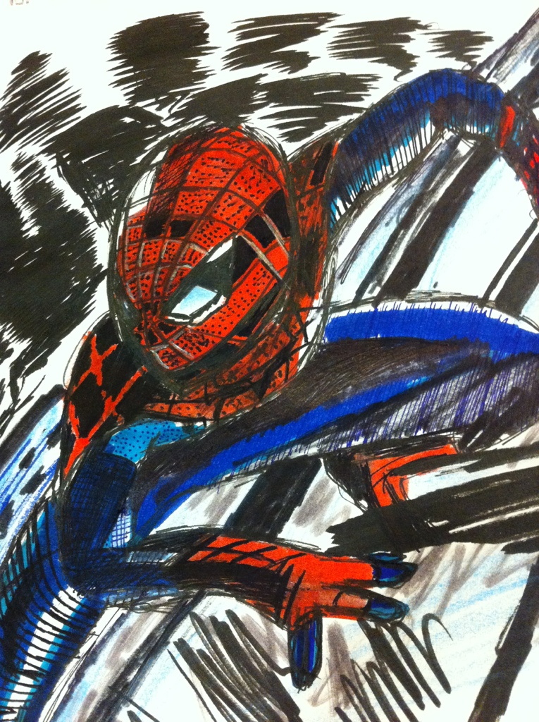 765x1024 Amazing Spider Man Poster Drawing Ethan Castillo