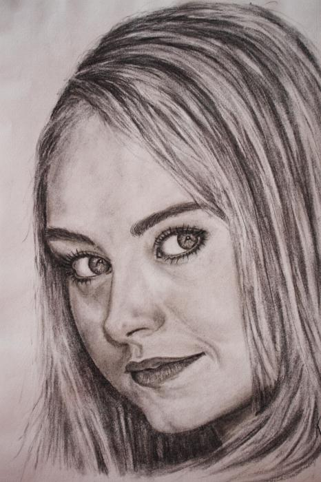 466x700 Portrait Of Amber Marshall By Charcoal4art On Stars Portraits